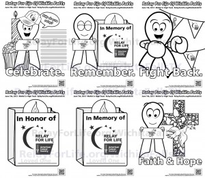 Relay For Life coloring sheets